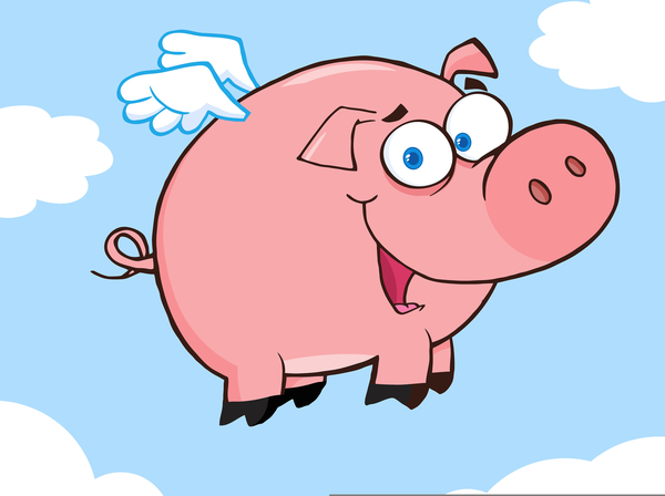 Flying pig clipart banner freeuse download Animated Flying Pig Clipart | Free Images at Clker.com - vector clip ... banner freeuse download