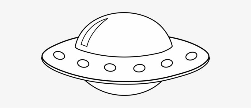 Flying saucer clipart free. Ufo black and white