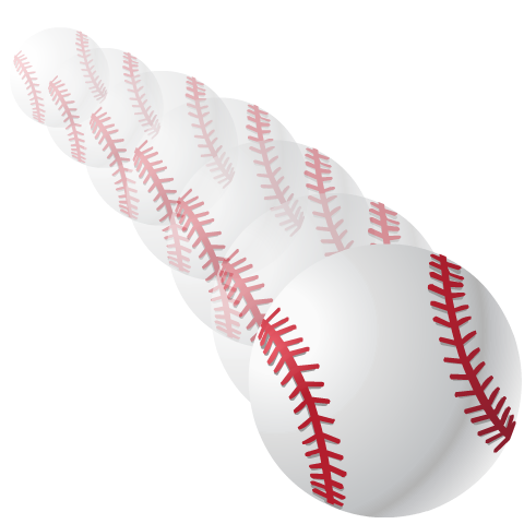 Flying softball clipart black and white library Free Softball and Baseball Clip Art | HubPages black and white library