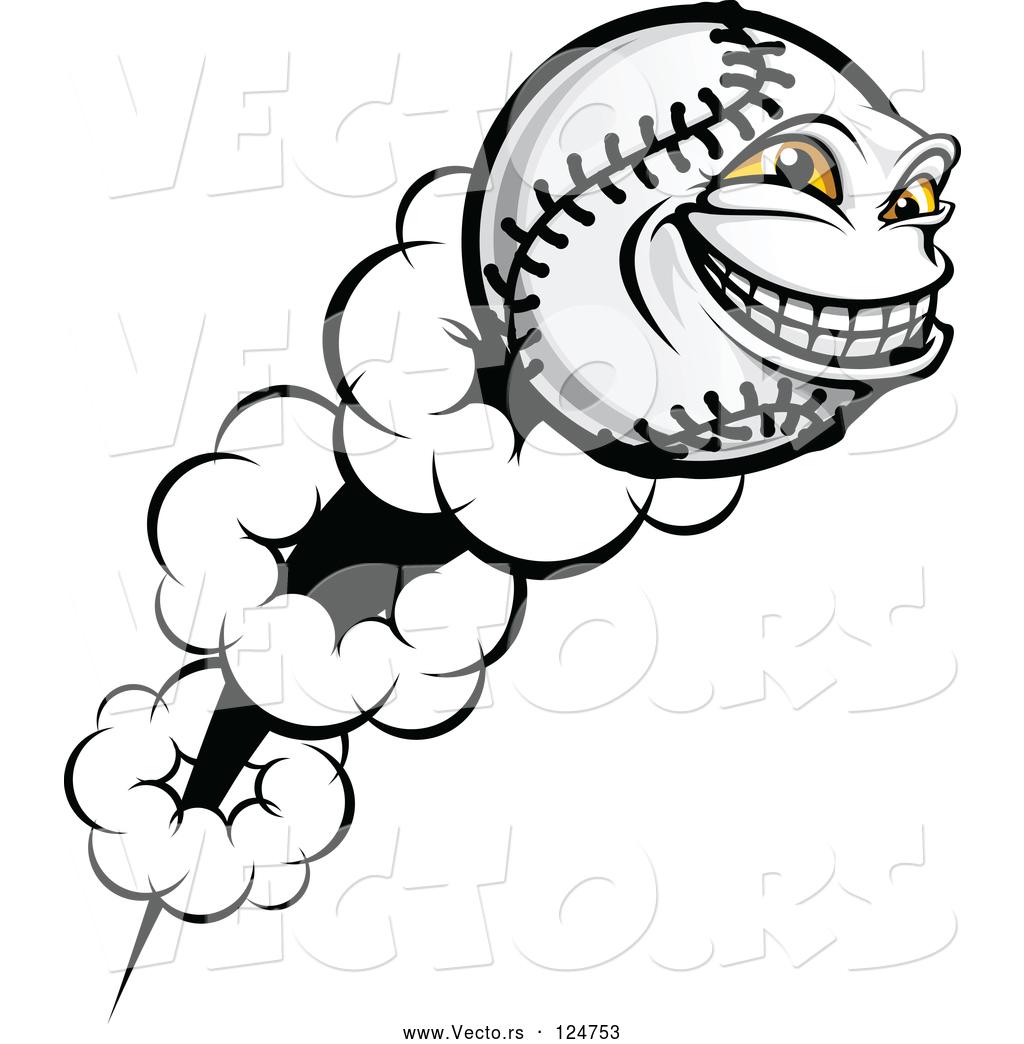 Flying softball clipart clip art free stock Vector of Flying Softball Character by Vector Tradition SM - #124753 clip art free stock