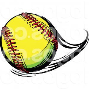 Flying softball clipart clip art stock Girls Softball Pitcher And Batter With Typescript Gm | SOIDERGI clip art stock