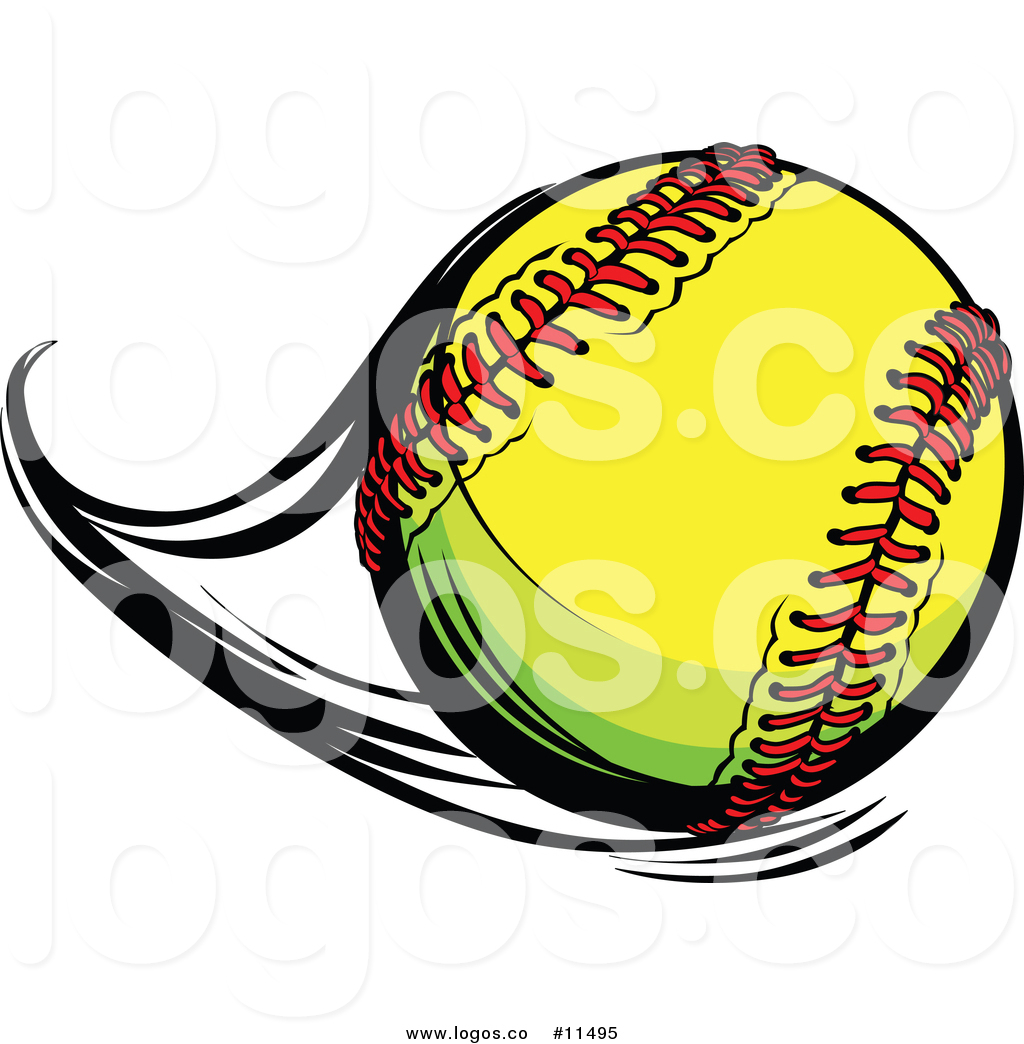 Flying softball clipart png freeuse library Vector Logo of a Flast Flying Softball by Chromaco - #11495 png freeuse library
