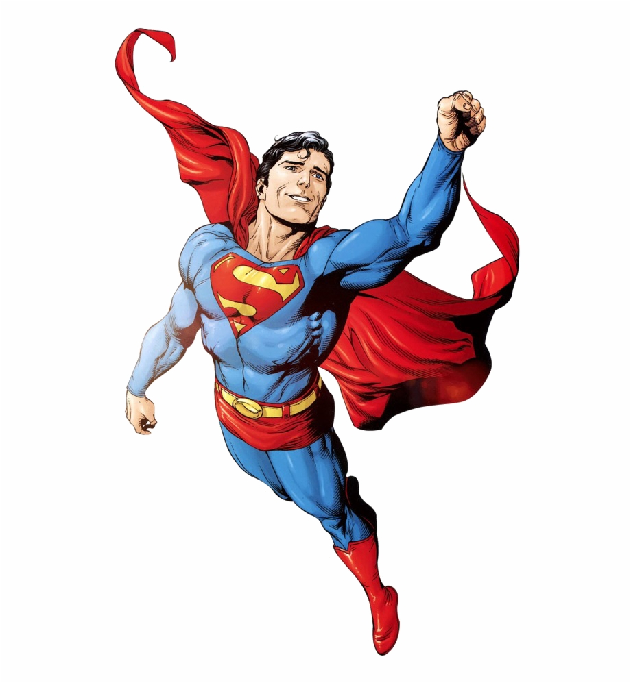 Flying superman clipart. I comic character up