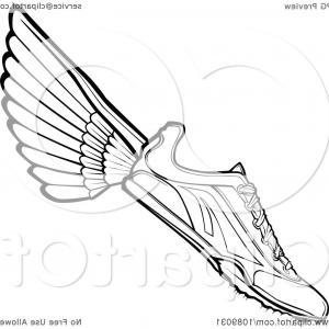 Flying track shoe clipart 1000 x 1000 svg royalty free stock Speeding Running Shoe Symbol Icon Or Logo Vector | SOIDERGI svg royalty free stock