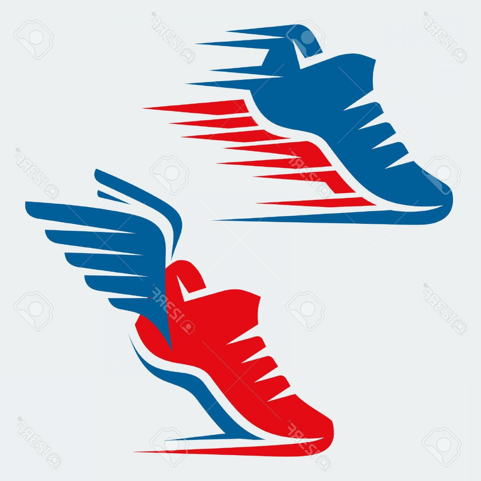 Flying track shoe clipart 1000 x 1000 png transparent stock Photostock Vector Running Shoes With Speed And Motion Trails And ... png transparent stock