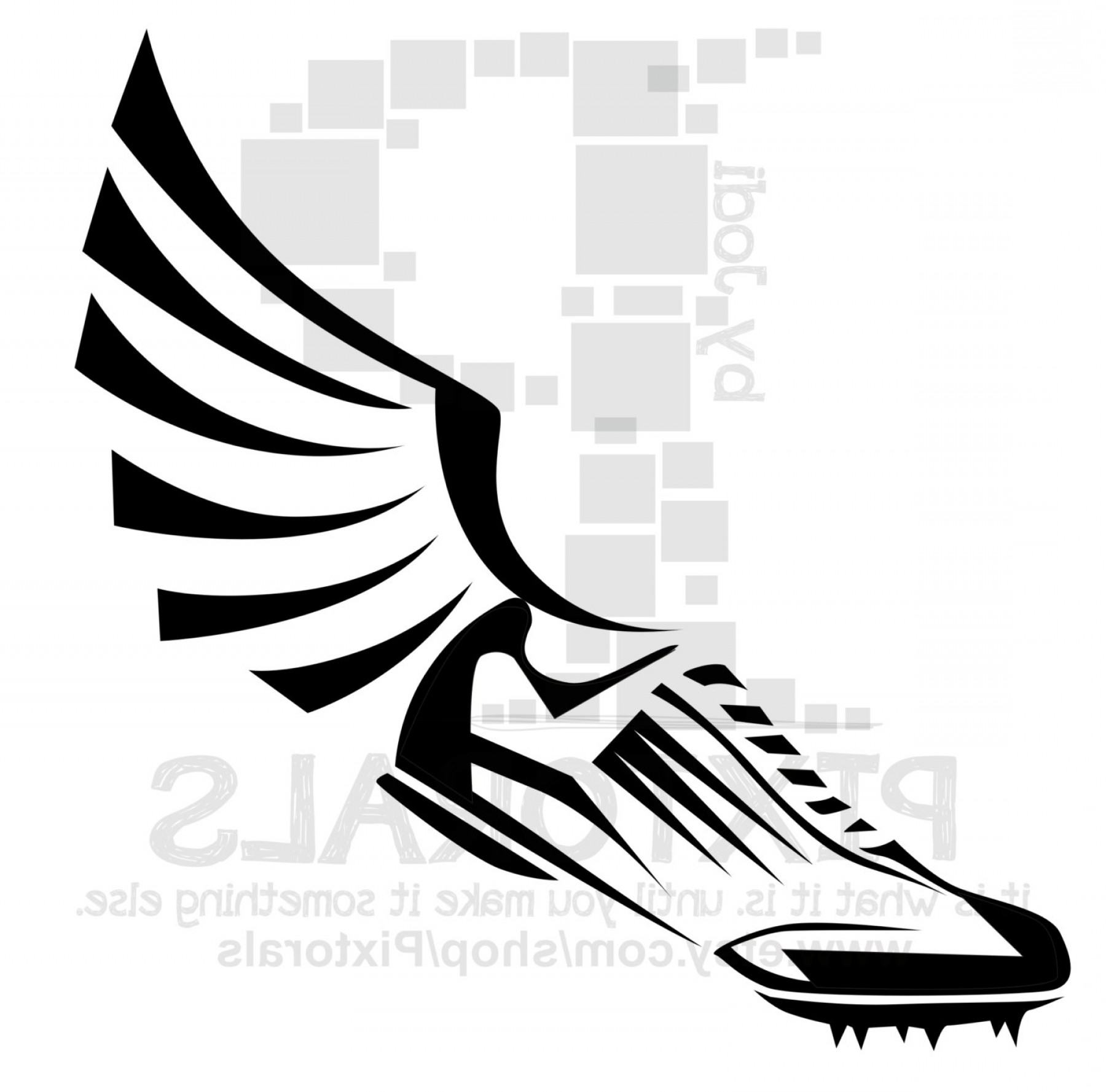 Flying track shoe clipart 1000 x 1000 picture transparent Track And Field Shoe Logo | Free download best Track And Field Shoe ... picture transparent