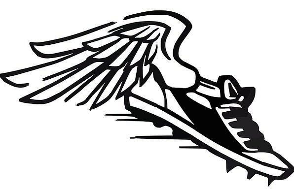 Flying track shoe clipart 1500 x 1500 image stock Shoe With Wings | Free download best Shoe With Wings on ClipArtMag.com image stock