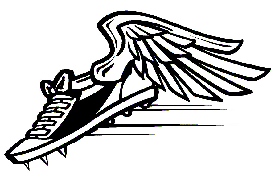 Winged track shoe clipart image free Running Shoe Clipart | Free download best Running Shoe Clipart on ... image free