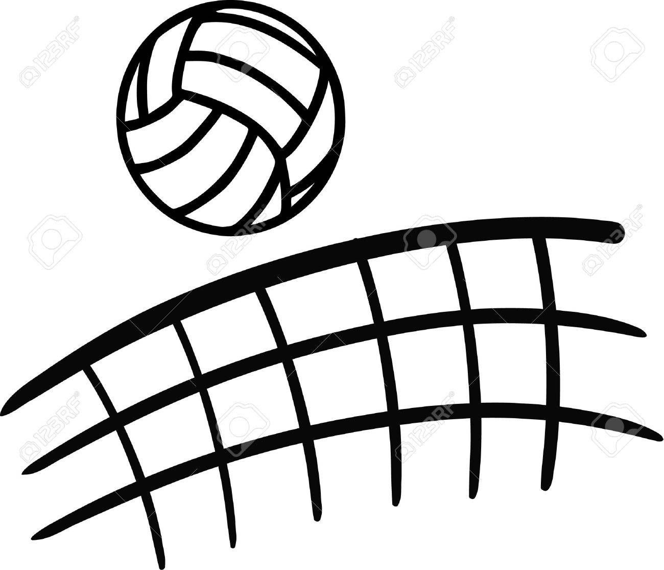 Flying volleyball clipart graphic black and white Flying volleyball clipart 4 » Clipart Station graphic black and white