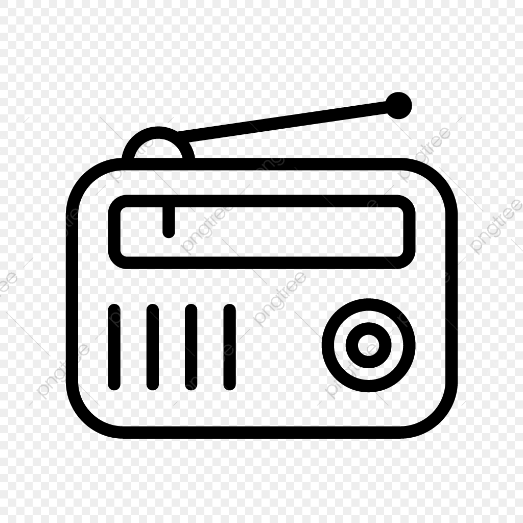 Fm radio clipart. Vector icon set png