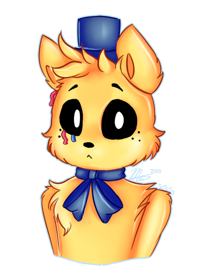 Fnaf golden freddy clipart picture freeuse download Golden Freddy [GIFT] by SnowTehKat.deviantart.com on @DeviantArt ... picture freeuse download