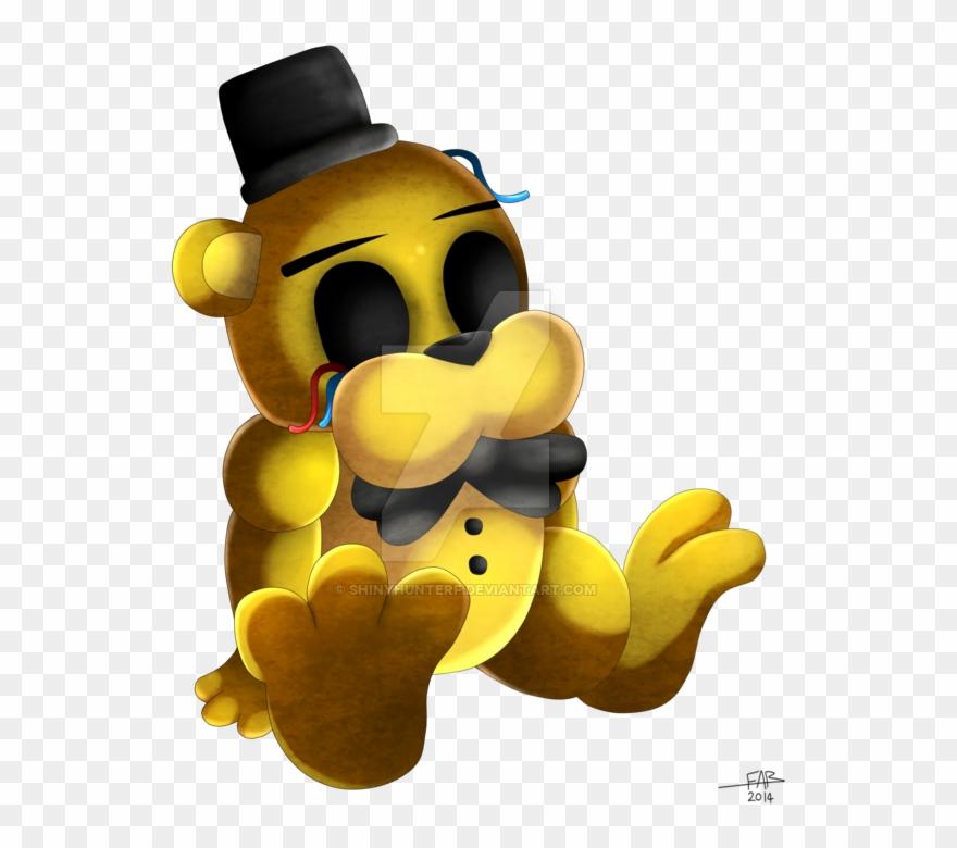 Fnaf golden freddy clipart graphic transparent download Chibi F Naf Cliparts - Fnaf Golden Freddy Chibi - Png Download ... graphic transparent download