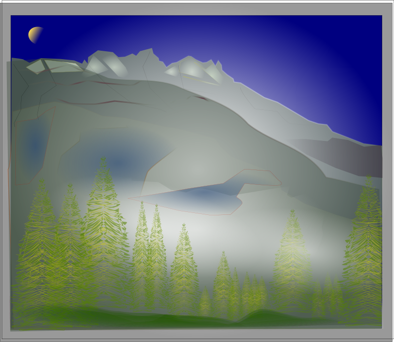 Fog clipart images. Free between forest and
