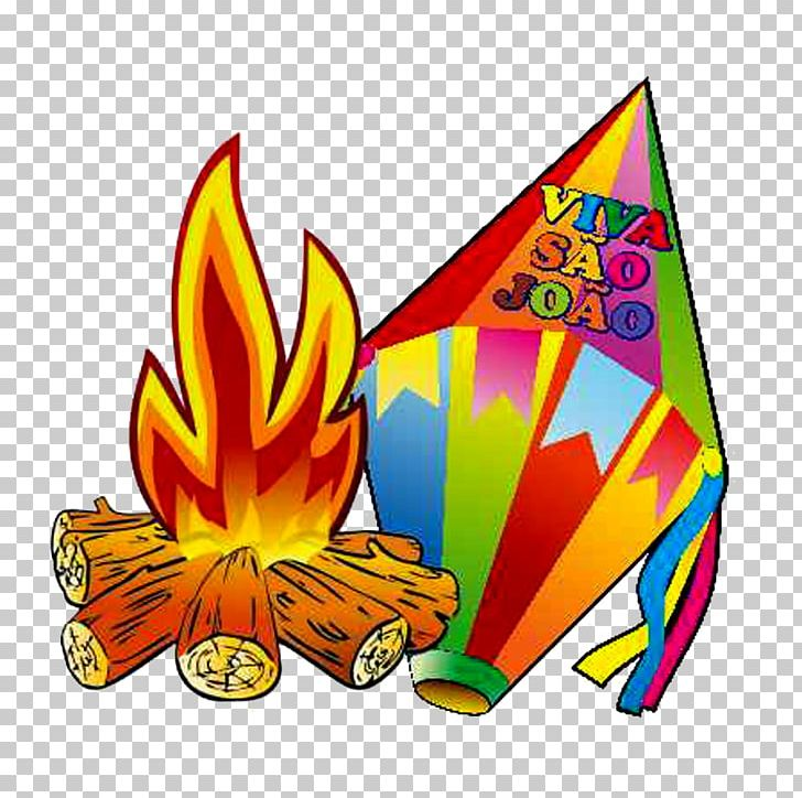 Midsummer bonfire party paper. Fogueira clipart