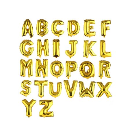 Foil balloon letters clipart clip art freeuse library 16\