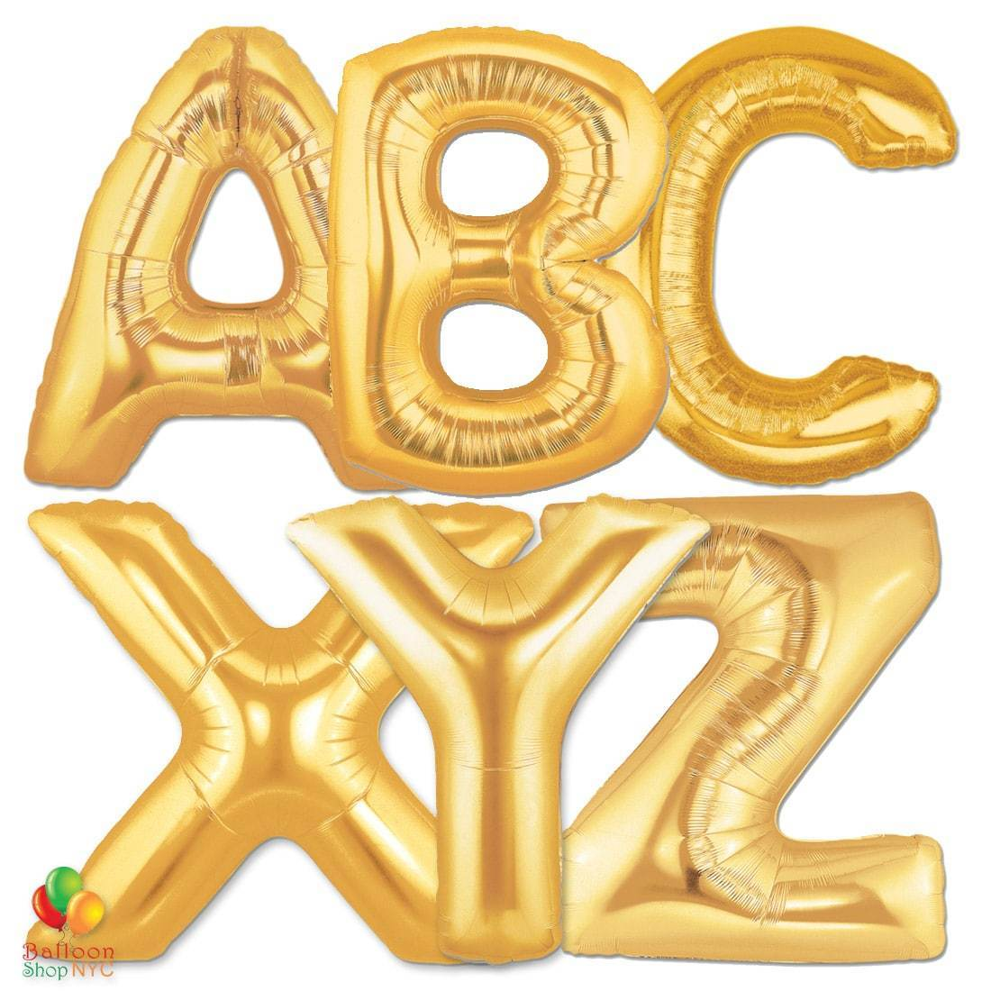 Foil balloon letters clipart clipart library stock Express Order Gold Letters Giant Foil Balloon 40 Inch - Balloon Shop NYC  delivery clipart library stock