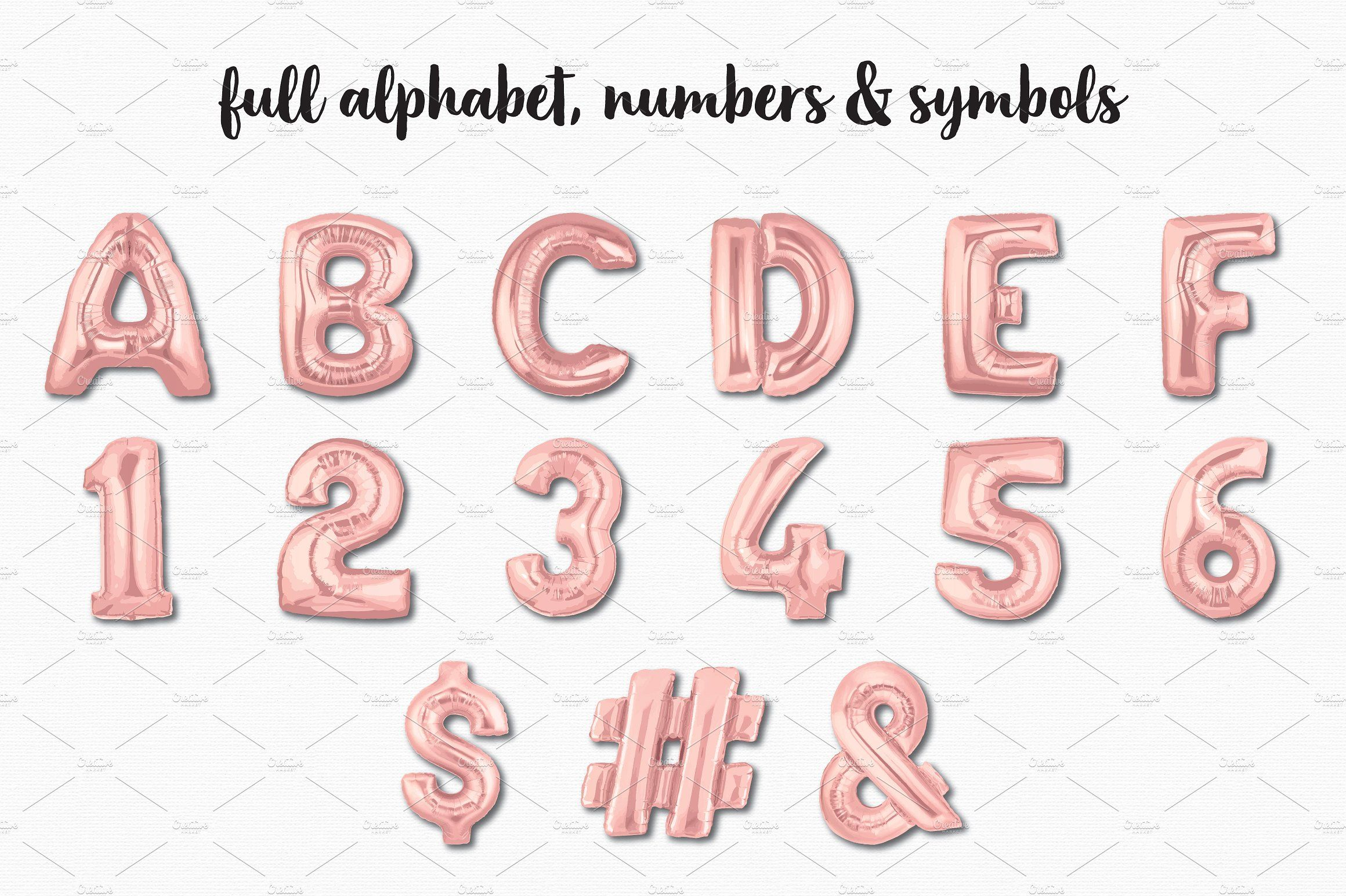 Foil balloon letters clipart clip royalty free library Rose Gold Foil Balloon Bundle #popular#super#numeric#alpha ... clip royalty free library