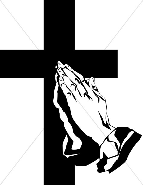 Prayers joined together in peace clipart image library download Praying Hands And The Cross | Prayer Clipart image library download