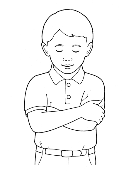Folded arms clipart svg royalty free library Primary Boy Folding Arms and Bowing Head svg royalty free library
