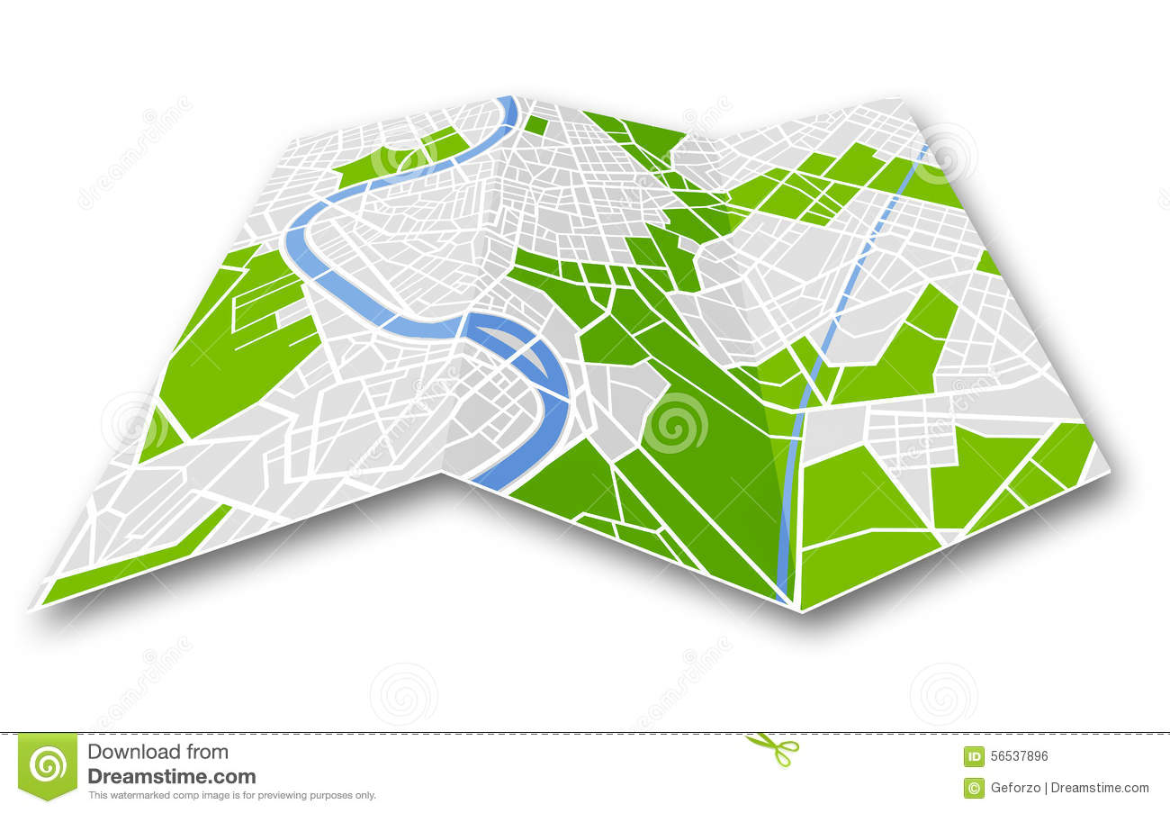 Folded road map clipart picture freeuse library Generic road map clipart - ClipartFest picture freeuse library