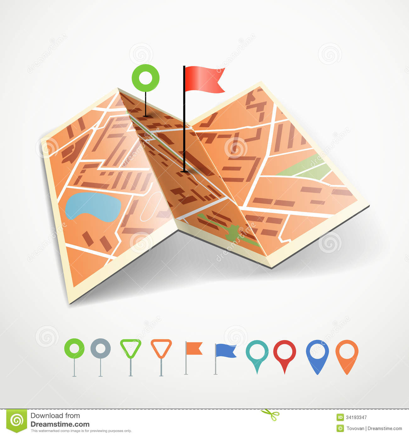 Folded road map clipart svg free download Folded City Map Stock Images - Image: 28091204 svg free download