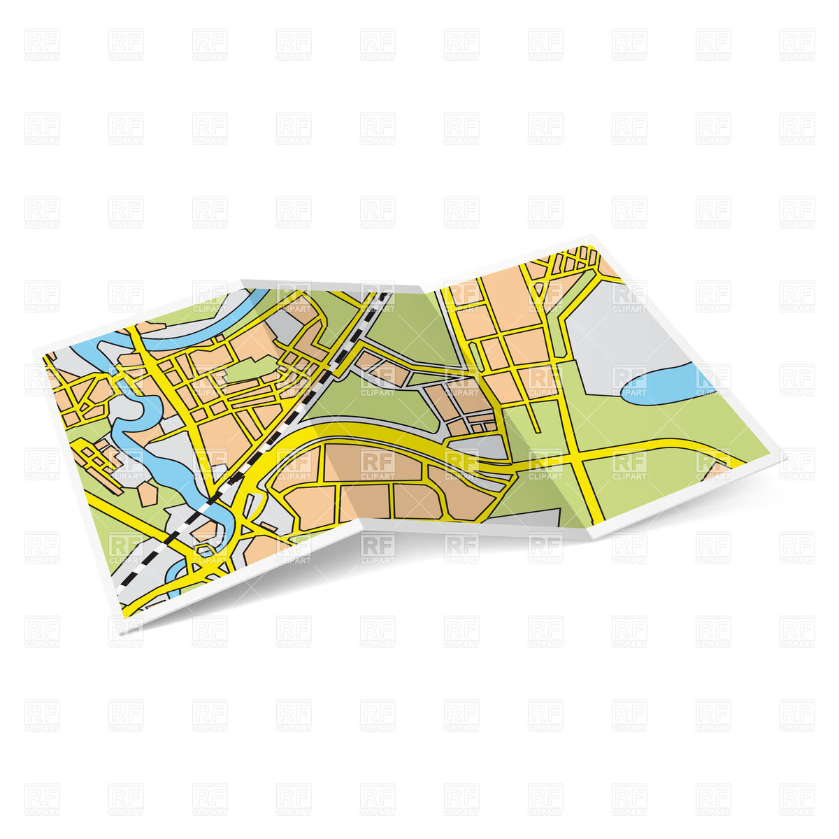 Folded road map clipart picture free Road Map Clipart - Clipart Kid picture free