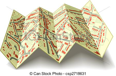Folded road map clipart graphic library stock Clipart folded map - ClipartFest graphic library stock