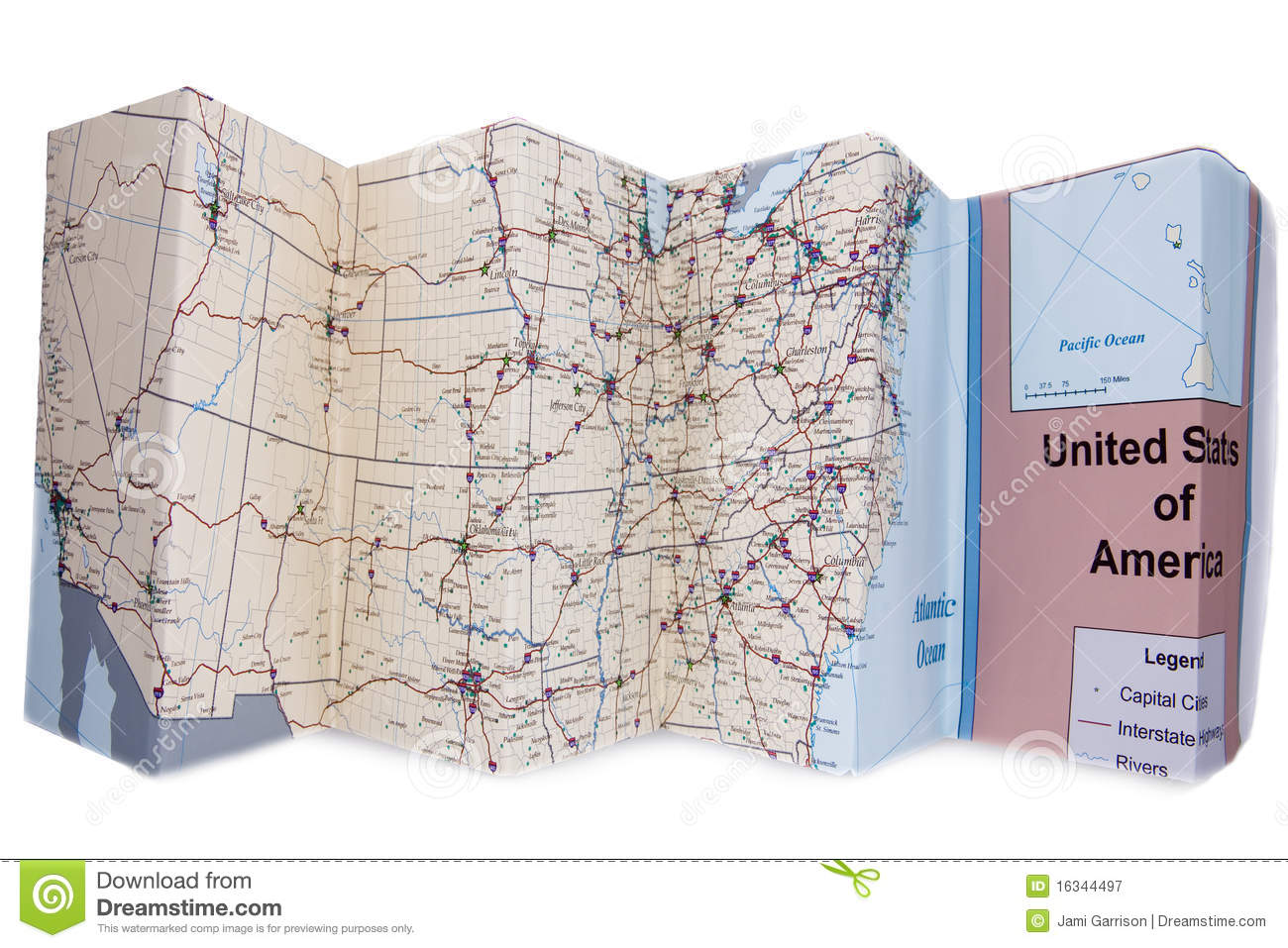 Folded road map clipart image royalty free stock Folded Map Royalty Free Stock Photography - Image: 16344497 image royalty free stock