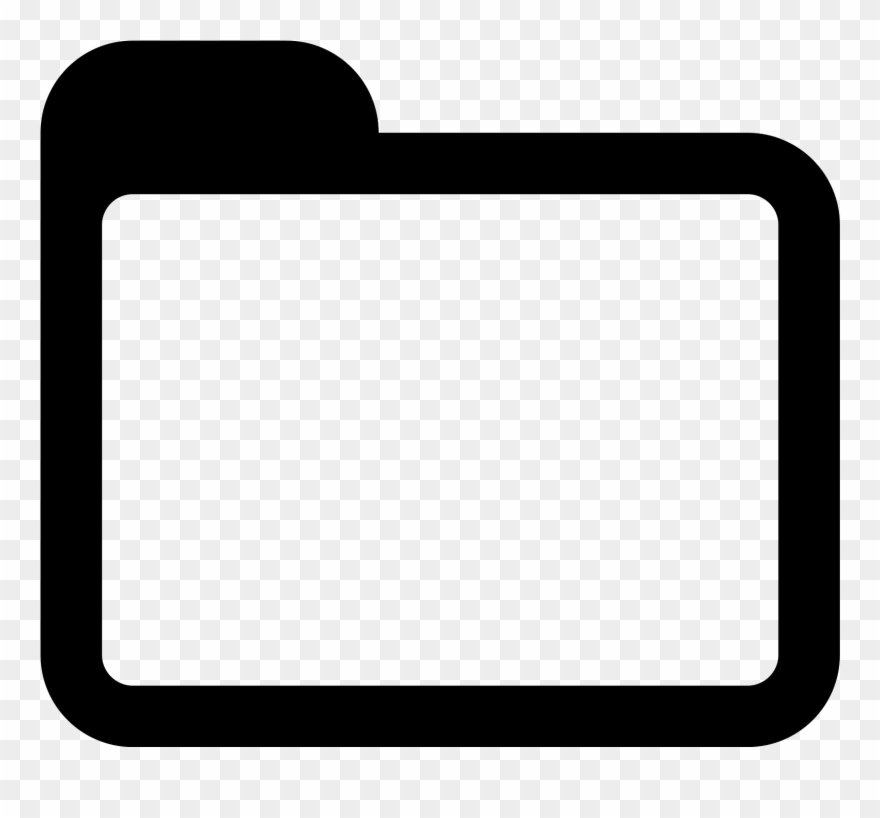 Folder clipart. Black and white icon