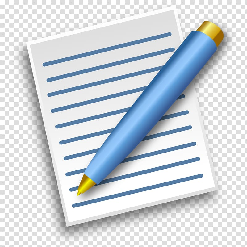 Folder with a pen paper clip clipart. Pencil writing transparent background
