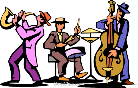 Folk jazz & blues clipart vector royalty free library Musicians Clipart | Free download best Musicians Clipart on ... vector royalty free library
