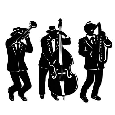 Folk jazz & blues clipart. Musicians free download best