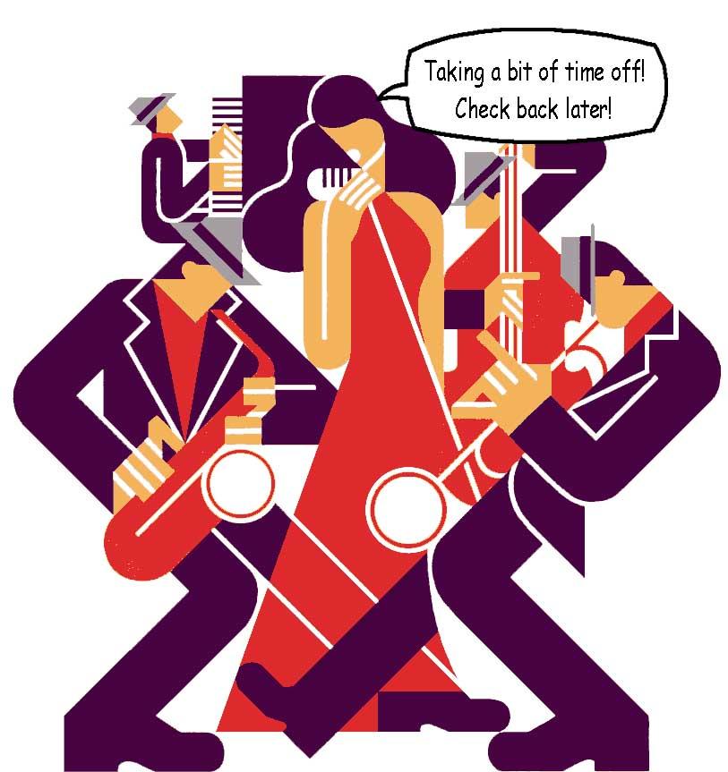 Folk jazz & blues clipart. Live music halifax jams