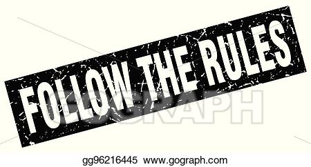 Follow rules clipart jpg library stock Vector Stock - Square grunge black follow the rules stamp. Clipart ... jpg library stock