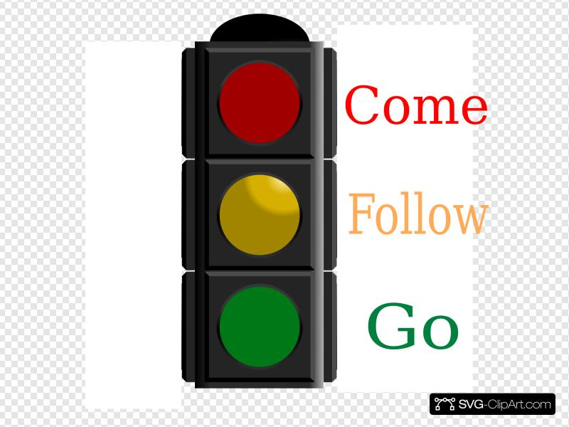 Follow the light clipart image library stock Traffic Light With Words Clip art, Icon and SVG - SVG Clipart image library stock