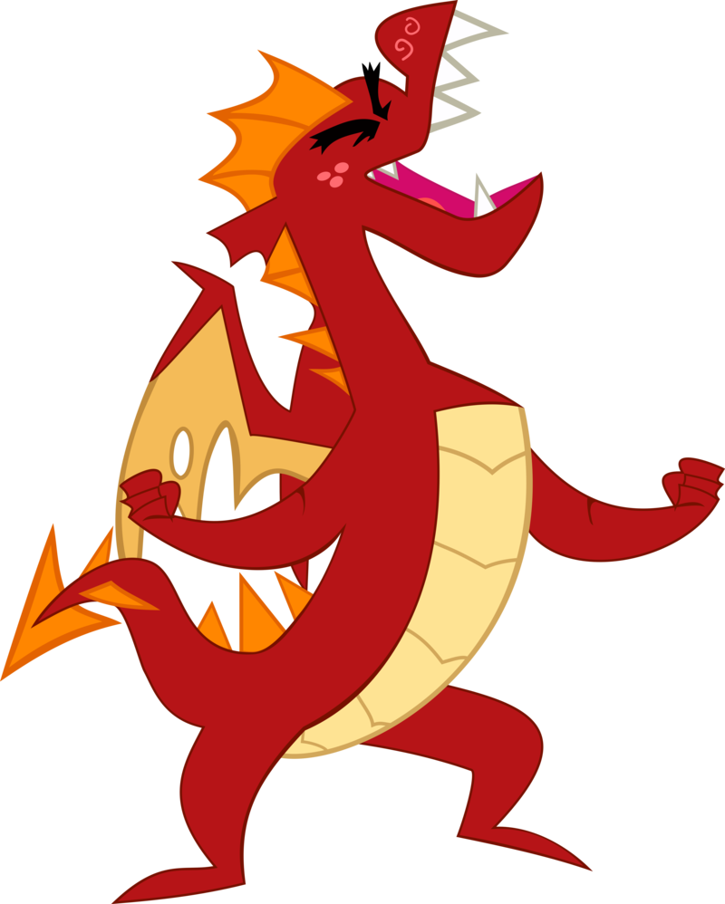 Garble the dragon by. Follow yonder star clipart
