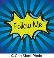Folow me cliparts. Follow stock illustrations clip