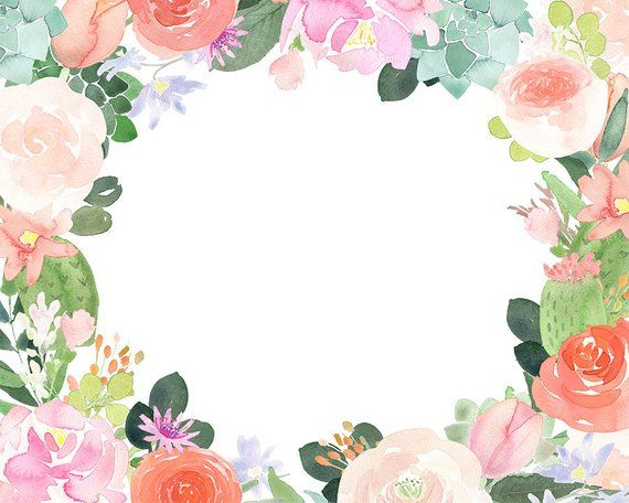 Fondo acuarela clipart clip freeuse stock Floral Clipart - Watercolor flower frames and borders/ roses ... clip freeuse stock