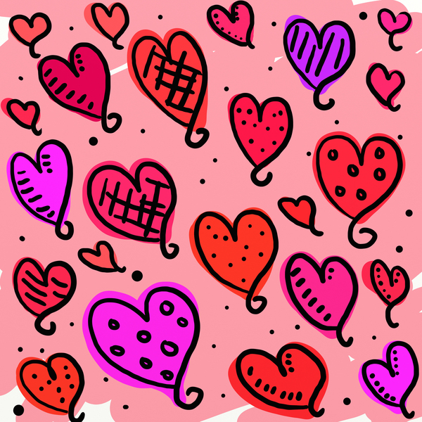 Fondo de corazones clipart. Stock fotos gratis amor