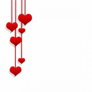 Rojos png vectores psd. Fondo de corazones clipart