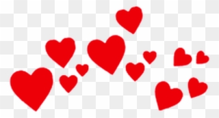 Fondo de corazones clipart. Red hearts heart crown
