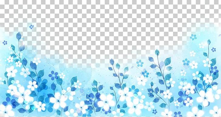 Fondos azules clipart jpg royalty free stock Ilustración blanca azul, flores blancas sobre un fondo azul para ... jpg royalty free stock