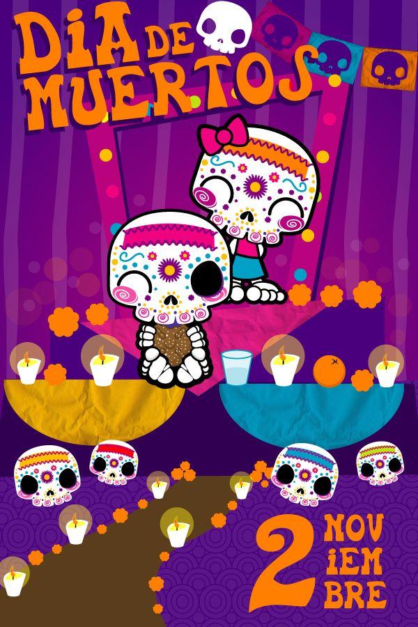 Fondos para difuntos en clipart jpg freeuse Dia de Muertos by ~mictlantectli on deviantART | dia d muertos | Dia ... jpg freeuse