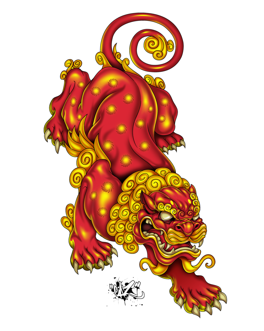 28+ Collection of Japanese Lion Drawing | High quality, free ... image freeuse