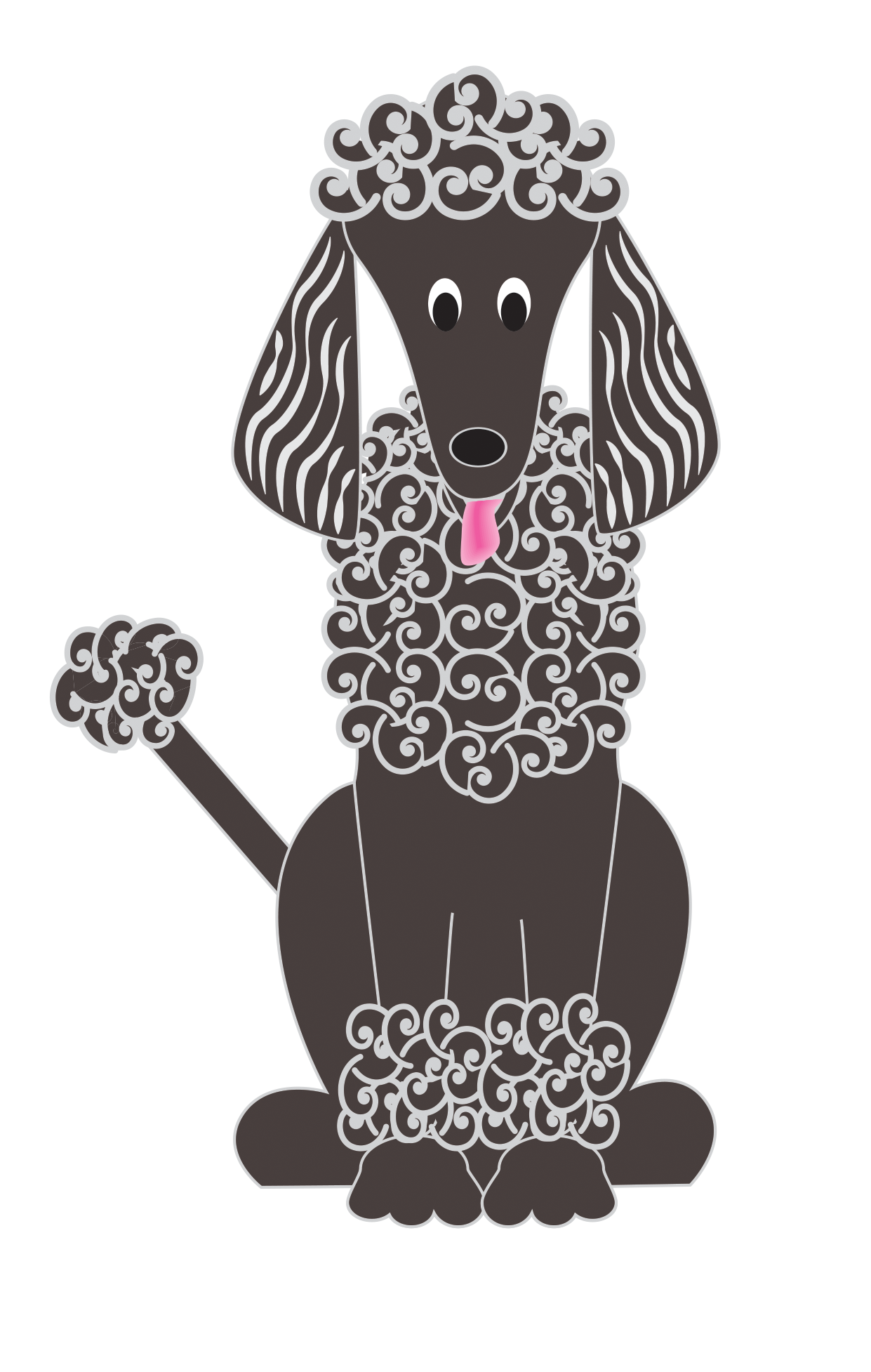 Poodle dog clipart vector transparent CATS & Dogs… clipart,wordart,papers all png clipart and wordart ... vector transparent