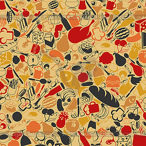 Food background clipart. Vector