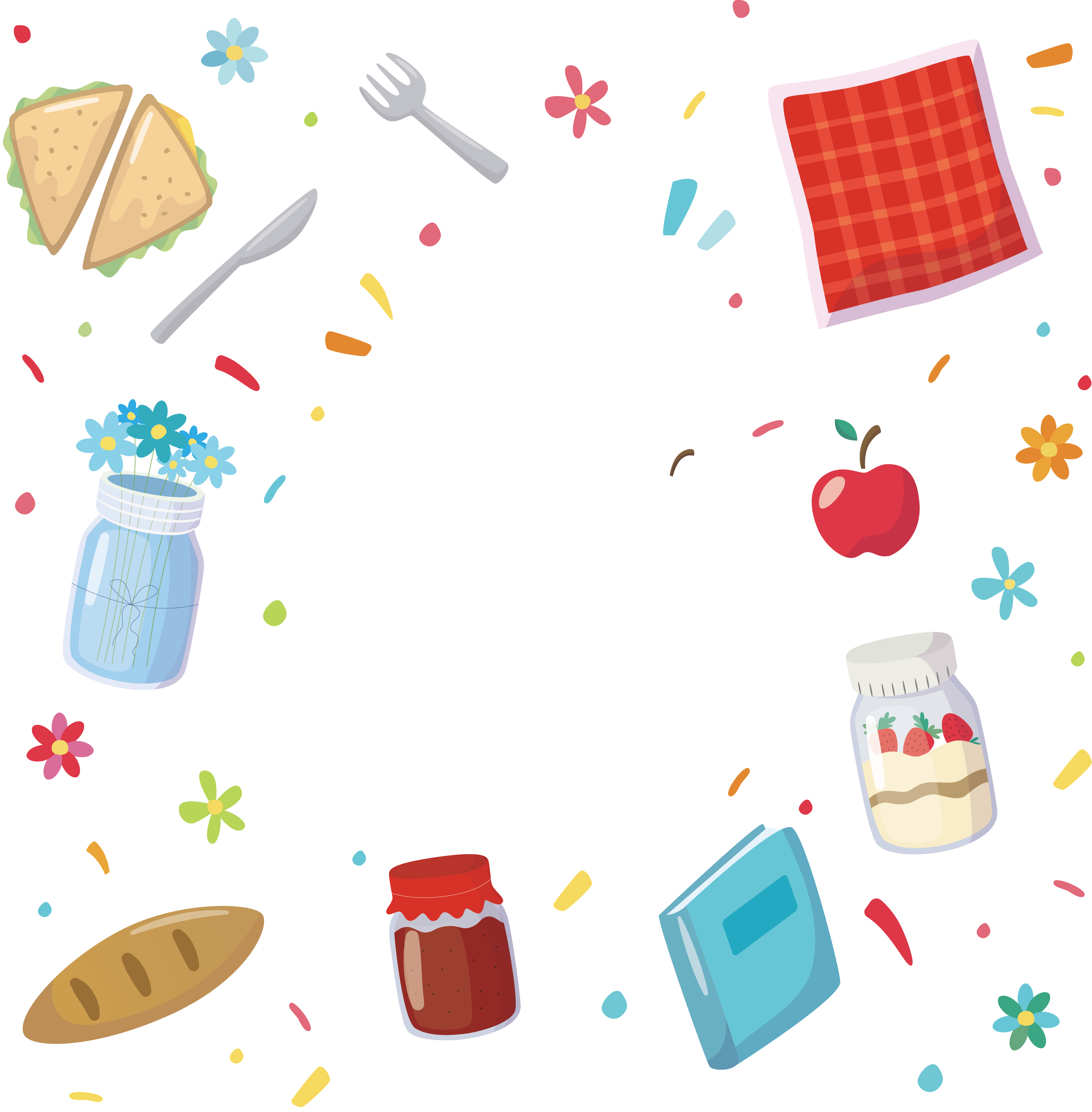 Jam sandwich design png. Food background clipart