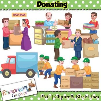 Food bank clip art picture black and white library Donations Clip art | Food bank, The o'jays and Clip art picture black and white library