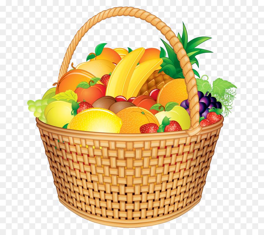 Food basket clipart. Gift cartoon vegetable fruit