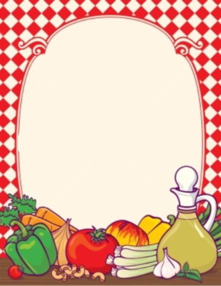 Food borders clipart banner royalty free download free fruit and vegetable page borders - Recherche Google | Clipart ... banner royalty free download